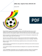 Ghana Transfer deadline day | Sports News 2016-01-20