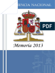 Audiencia Nacional Memoria 2013