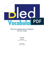 Bled Vocabulaire Exercice s Complement Aires