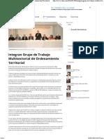 08-01-16 Integran Grupo de Trabajo Multisectorial de Ordenamiento Territorial