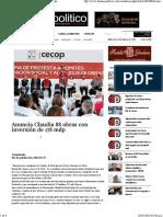 15-01-16 Anuncia Claudia 88 Obras con inversión de 178 Mdp