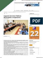 09-01-16 Capacita servicios públicos municipales a Inspectores