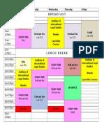 Schedule 2nd Sem 2015-2016