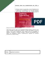 Similitudes y Diferencias Entre Las Constituciones de 1979 y 1993