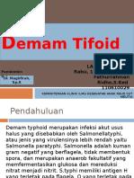 Demam Tifoid pada anak
