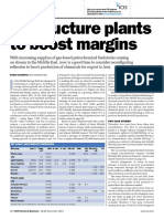 Restructure Plants to Boost Margins- Paolo Scafetta