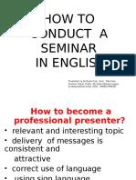 Tata Cara Seminar Dalam Bahasa Inggris Presenter
