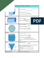 Geometry Formula Sheet