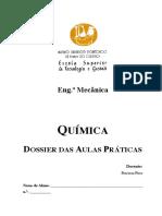Dossier Aulas Práticas Química EM