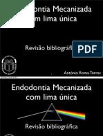 apresentação. Endodontia mecanizada lima única.