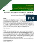 BREVE HISTORIA DEL COMPLEJO INDUSTRIAL SAHAGÚN, 1948-1988/95 ADRIÁN ESCAMILLA TREJO