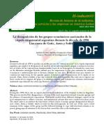 LA DESAPARICIÓN DE LOS GRUPOS ECONÓMICOS NACIONALES DE LA CÚPULA EMPRESARIAL ARGENTINA DURANTE LA DÉCADA DE 1990 LOS CASOS DE GATIC, ASTRA Y SOLDATI ALEJANDRO GAGGERO