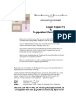 Legal Capacity and Supported Decision Making