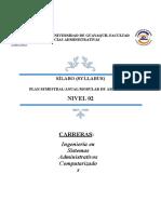 2 Sílabo Segundo Nivel ISAC