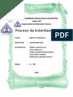 Proceso de Esterilización 2011