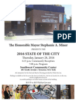 Invitation for Syracuse Mayor Stephanie Miner's State of the City address