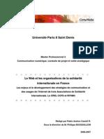 Université Paris 8 Saint Denis mémoire Master 2
