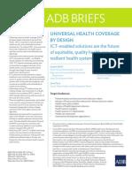 ADB Universal Health Coverage Design Ict