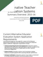 Alternative Teacher Evaluation Systems