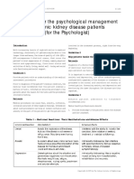 Psychological Intervention for Kidney Disease