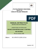 Manual de Metrología de Materiales para la realización de practicas en el laboratorio