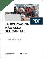La Educación Mas Allá Del Capital