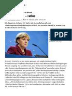 2016.01.15 Nächtliche Pressekonferenz in Brüssel_ Angela Merkel – Ratlos - Politik - Stuttgarter Zeitung