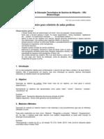 Modelo para elaboração de Relatorios das aulas práticas.