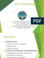Optimización y Alto Rendimiento (Met. de Afinamiento de Sistemas)