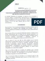 Decreto Medidas de Seguridad Carnaval Soledad