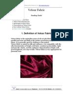 Velour Fabric