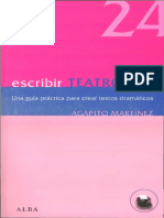 Martinez Paramio Agapito - Escribir Teatro-proc