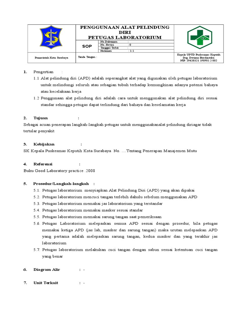 Sop penggunaan alat pelindung diri petugas laboratoriumc ccuart Image collections