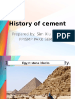 GEC 1033 History of Cement