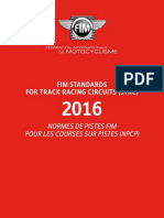 FIM STANDARDS FOR TRACK RACING CIRCUITS (STRC) 2016.