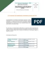 Criterios de Evaluacion de Modulo Medicion