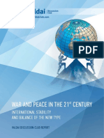 WAR AND PEACE IN THE 21st CENTURY