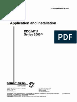 APP. Installation Detroit sel S2000 7SA2000 | Motor Oil ... on