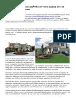 Conseils simples pour améliorer votre maison avec le nouvel aménagement