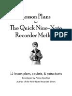 Quick 9N Lesson Plans