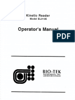 Bio-Tek EL312E Kinetic Reader - Operation Manual