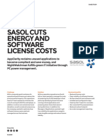 Sasol Cuts Energy and Software License Costs