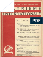 Quatrième Internationale I, Nº 39, 1947
