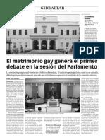 160121 La Verdad- El Matrimonio Gay Genera El Primer Debate en La Sesión Del Parlamento