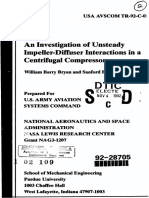 An Investigation of Unsteady Impeller Diffuser Interactions in a Centrifugal Compressor