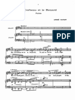 Caplet - 3 Fables de Jean de La Fontaine Voice and Piano