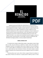El Renacido (the Revenant) Press Book
