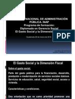 INAP - Gasto Social y Dimension Fiscal