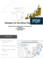 Valuation for the African Startup