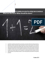 Mathematics Outcomes in South African Schools